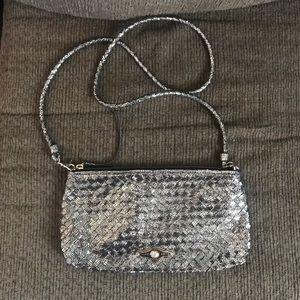Elliott Lucca Gold crossbody Clutch Bag